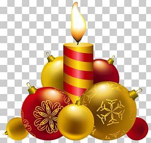 Santa Claus Christmas Candle PNG