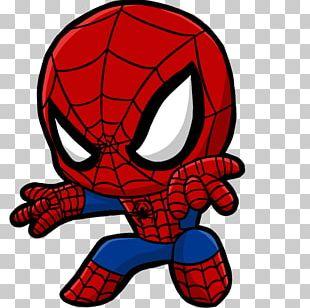 Spider-Man Wolverine Venom Chibi Marvel Comics PNG
