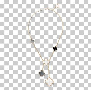 Van Cleef & Arpels Necklace Colored Gold Charms & Pendants Pearl PNG
