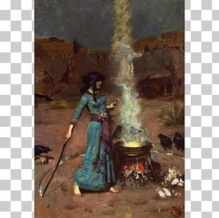 The Magic Circle Oil Painting Canvas Print PNG