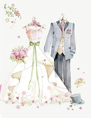 -painted Wedding PNG