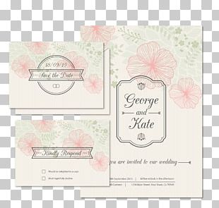 Wedding Invitation Save The Date PNG