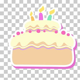 Birthday Cake Tart Drawing PNG