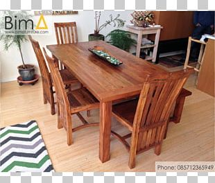 Table Dining Room Matbord Chair Teak Furniture PNG