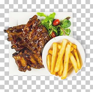French Fries Steak Frites Fast Food Spare Ribs Dish PNG