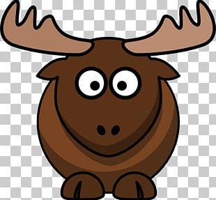 Elk Moose Cartoon Deer PNG
