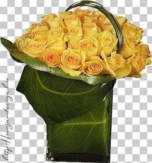 Garden Roses Floral Design Vase Flower PNG