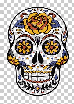 Calavera Day Of The Dead Death Party Halloween PNG