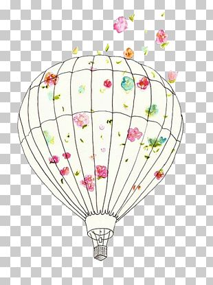 Hot Air Balloon Drawing Illustration PNG