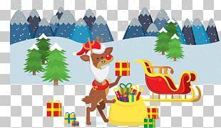 Reindeer Christmas Tree Gift PNG
