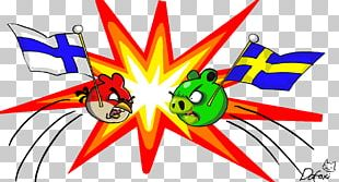 Flag Of Finland Sweden Angry Birds PNG