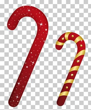 Candy Cane Christmas Candy Lollipop PNG