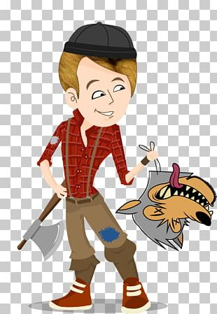Little Red Riding Hood Gray Wolf Short Story Lumberjack PNG
