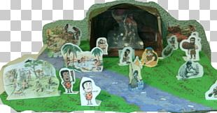 Paleolithic Cave Painting Mural Scale Models PNG