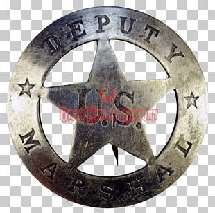 United States Marshals Service American Frontier Badge Sheriff PNG