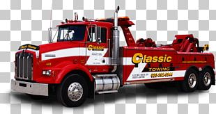 Car Tow Truck Commercial Vehicle Towing Semi-trailer Truck PNG