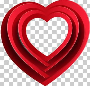 Love Valentine's Day Red White Heart PNG