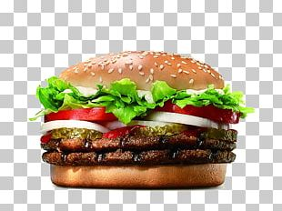 Whopper Hamburger Cheeseburger Big King Bacon PNG