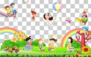 Kindergarten Cartoon Illustration PNG