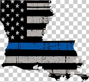 Thin Blue Line Flag Of The United States Decal Police Montana PNG