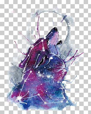 Gray Wolf Samsung Galaxy Art Printing PNG