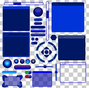 Portable Game Console Accessory Cobalt Blue Electric Blue Area PNG