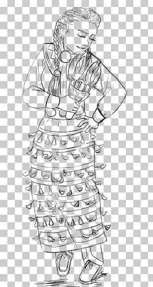 Pow Wow Jingle Dress Drawing Coloring Book Dance PNG
