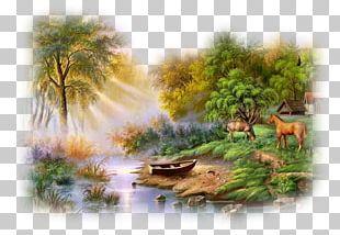 Watercolor Painting Landscape Oil Paint PNG
