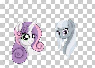 Horse Eye Pink M Ear PNG