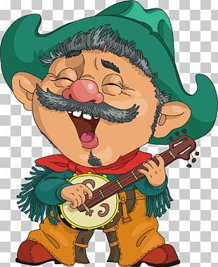 Cartoon Character Cowboy Illustration PNG
