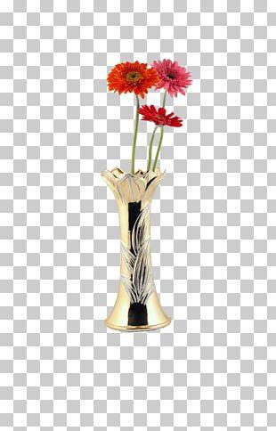 Floral Design Vase Art PNG