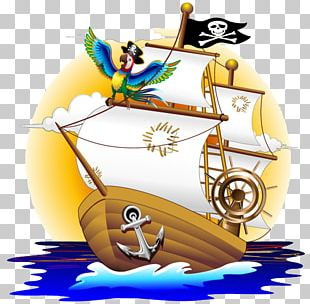 Parrot Piracy Cartoon Illustration PNG