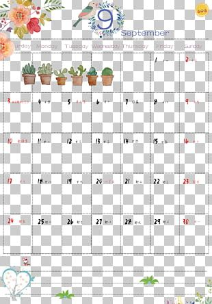 Calendar September Month PNG