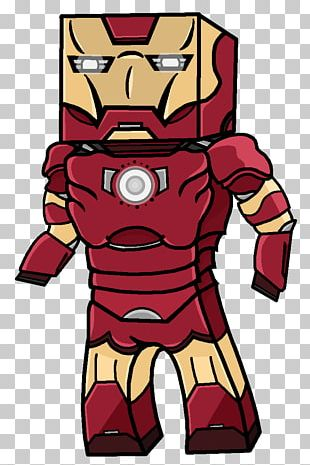 Minecraft Iron Man YouTube Marvel Comics Superhero PNG