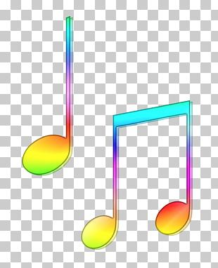 Musical Note Color Clef Sheet Music PNG