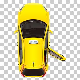 New York City Taxi Yellow Cab Stock Illustration PNG