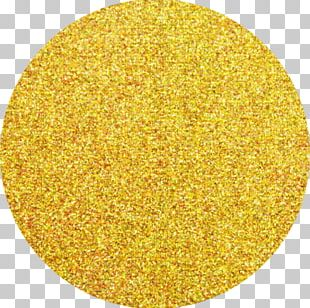 Yellow Gold Pigment Material Powder PNG