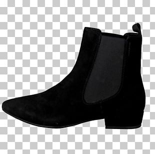 Boot Suede Shoe Black M PNG