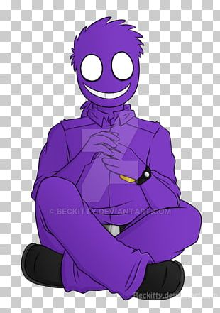 Five Nights At Freddy's Purple Man Character Fan Art PNG