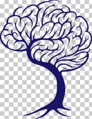 Brain Tree Drawing PNG