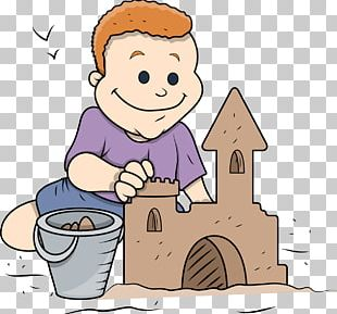 Sand Art And Play Cartoon Castle PNG