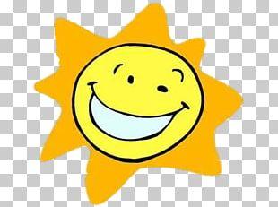Smiling Cartoon Sun PNG