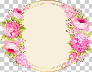 Wedding Invitation Pink Flowers PNG