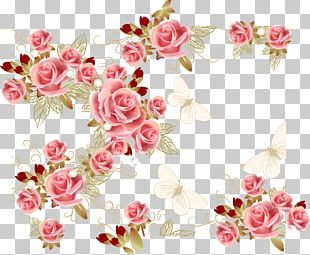 Garden Roses Pink Flower PNG