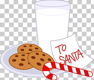 Chocolate Milk Chocolate Chip Cookie Candy Cane Santa Claus PNG