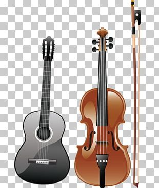Electric Violin Musical Instrument Acoustic-electric Guitar Acoustic Guitar PNG