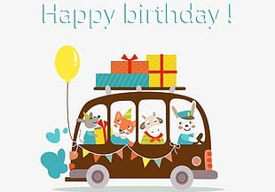 Happy Birthday Elements PNG
