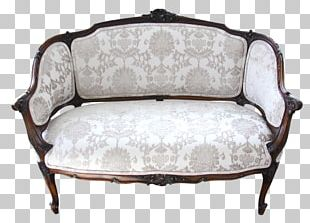 Loveseat Couch Chair Antique PNG