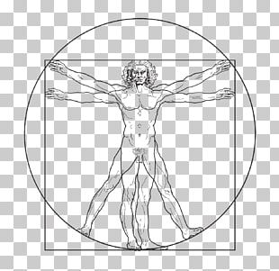Vitruvian Man Drawing PNG