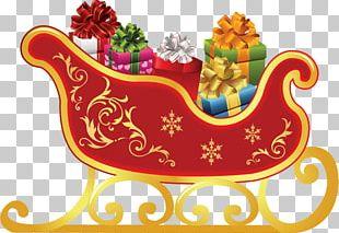 Rudolph Santa Claus Sled Christmas PNG